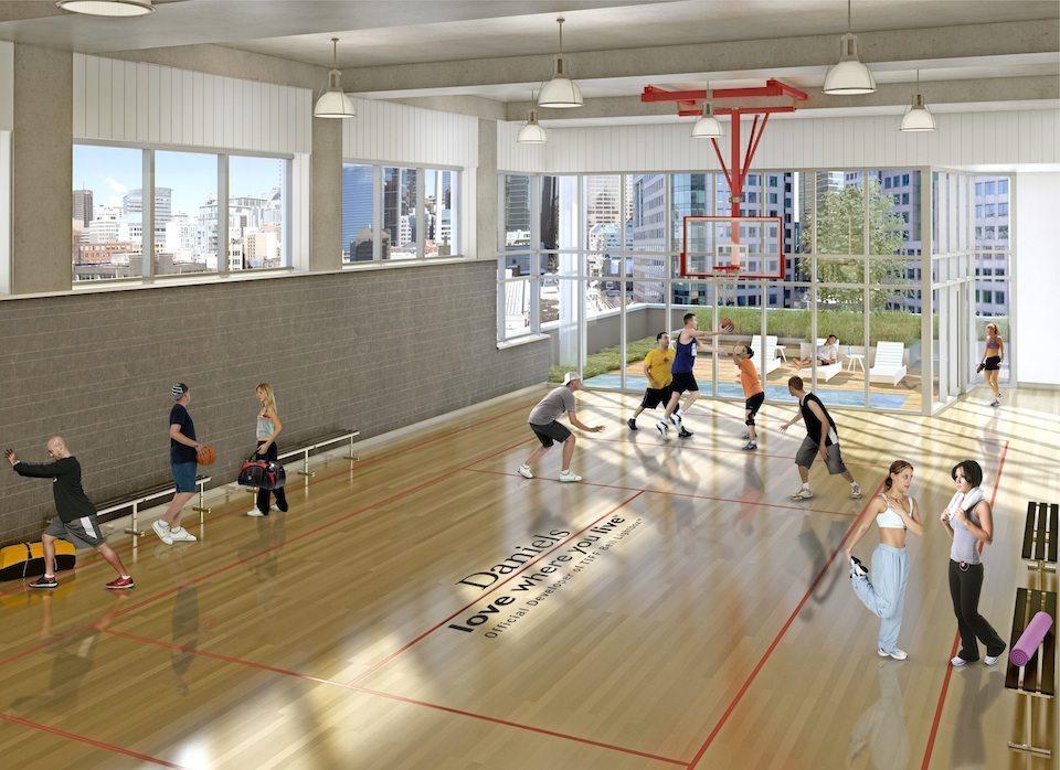 Cinema Tower Condos Basketball Court Toronto, Canada