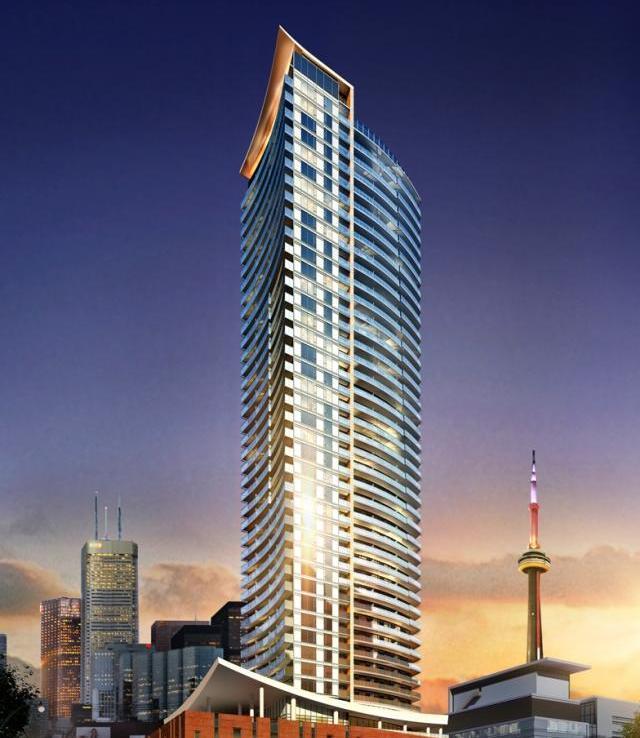 Cinema Tower Condos Building View Toronto, Canada