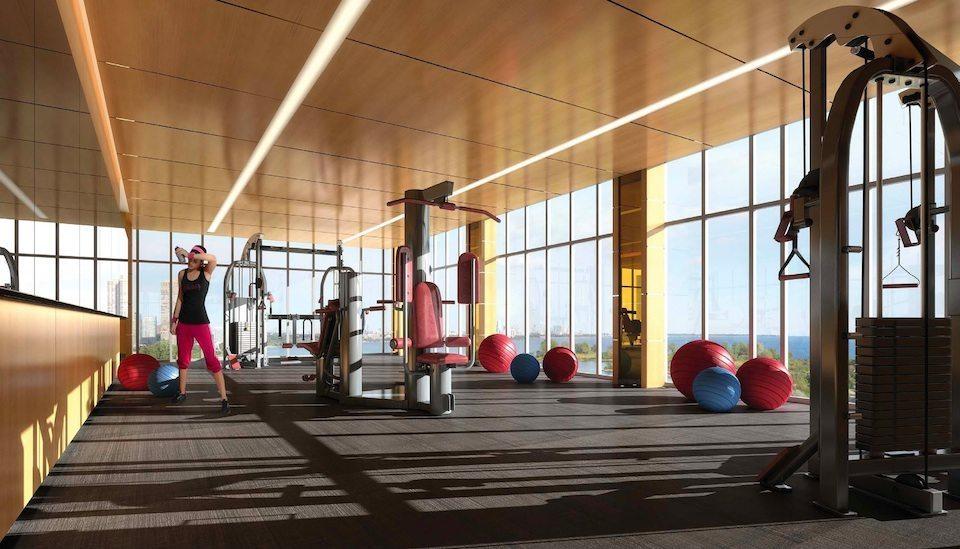 Eau du Soleil Condos Gym Toronto, Canada
