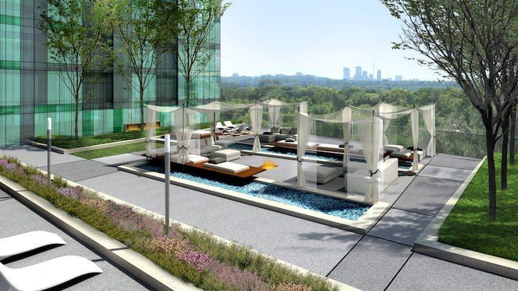 Emerald Park Condos Terrace Lounge Toronto, Canada