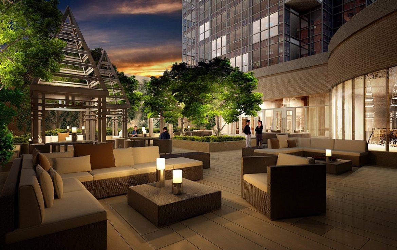 Gibson Square Condominiums Terrace Lounge Toronto, Canada