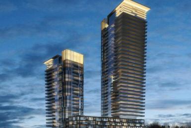 Gordon Woods Condominiums Night View Toronto, Canada