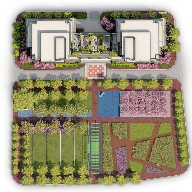 IQ Condos Phase 1 Condos Garden Plan Toronto, Canada