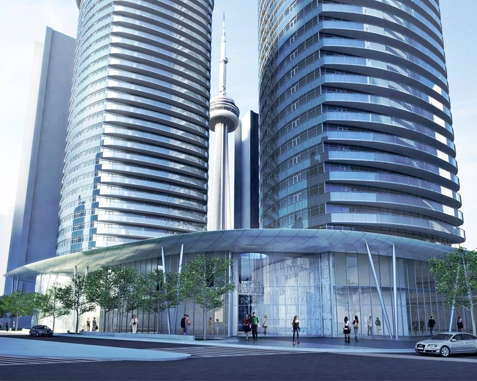 Ïce Condominiums at York Centre Terrace Front View Toronto, Canada