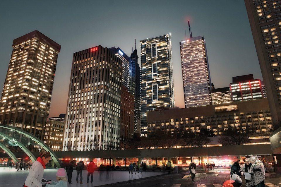 INDX Condos Night View Toronto, Canada