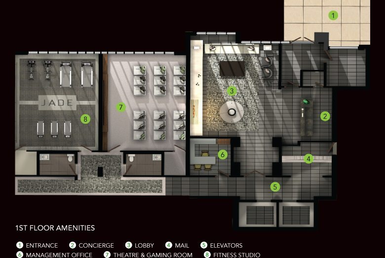 Jade Condominiums Property Plan Toronto, Canada