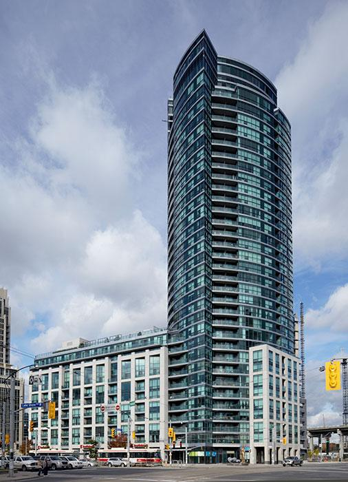 Malibu Harbourfront Condo Building View Toronto, Canada