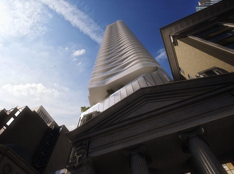 Massey Tower Condos Upward View Toronto, Canada