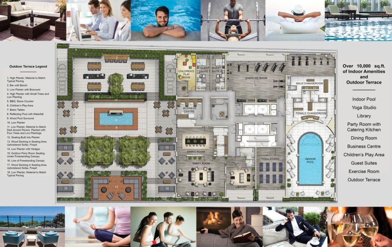 Mirabella Condos Amenities Plan Toronto, Canada