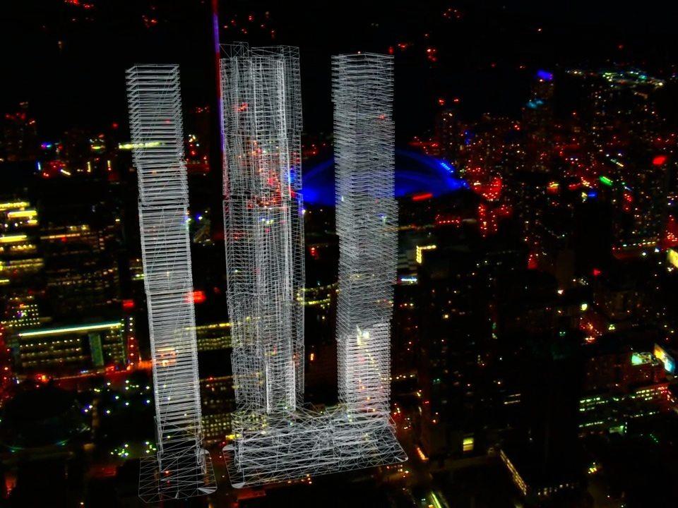 Mirvish+Gehry Toronto Condos Night View Toronto, Canada