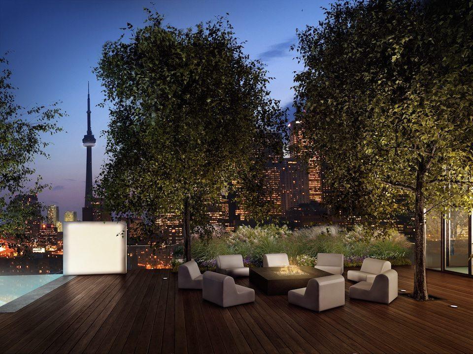 Monde Condos Terrace Fire Lounge Toronto, Canada