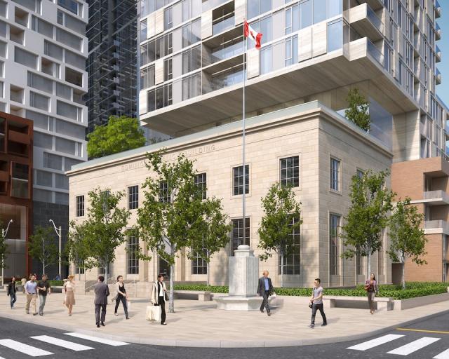 Montgomery Square Outside Toronto, Canada