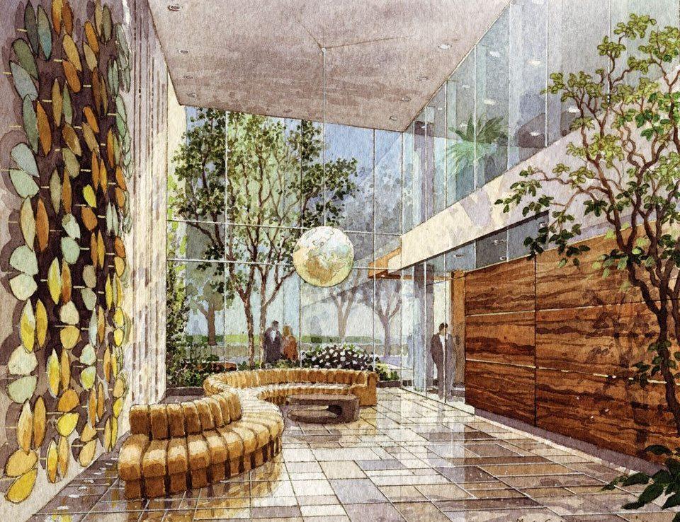 Nicholas Residences COndos Lobby Toronto, Canada
