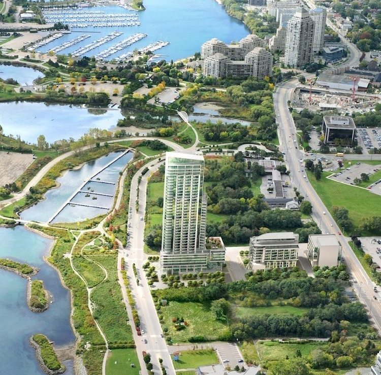 Ocean Club Condos Aerial View Toronto, Canada
