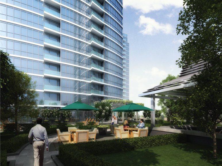 One Valhalla Towns & Condos + Triumph Phase Three Outdoor Garden Toronto, Canada