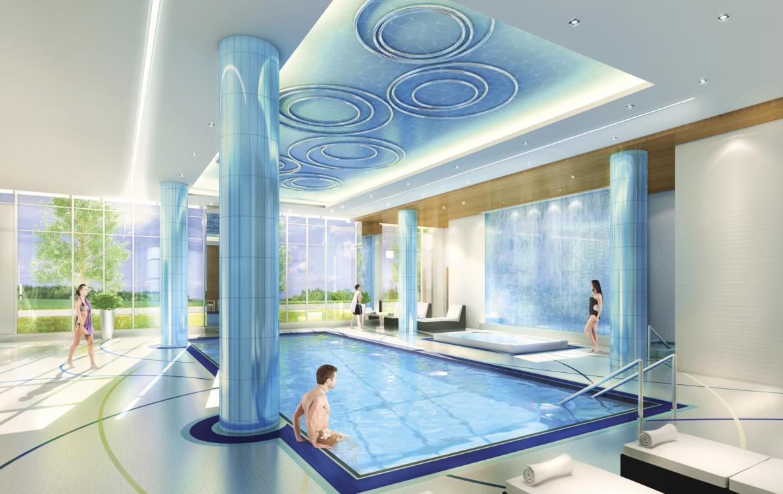 Senses Condominiums Indoor Pool Toronto, Canada
