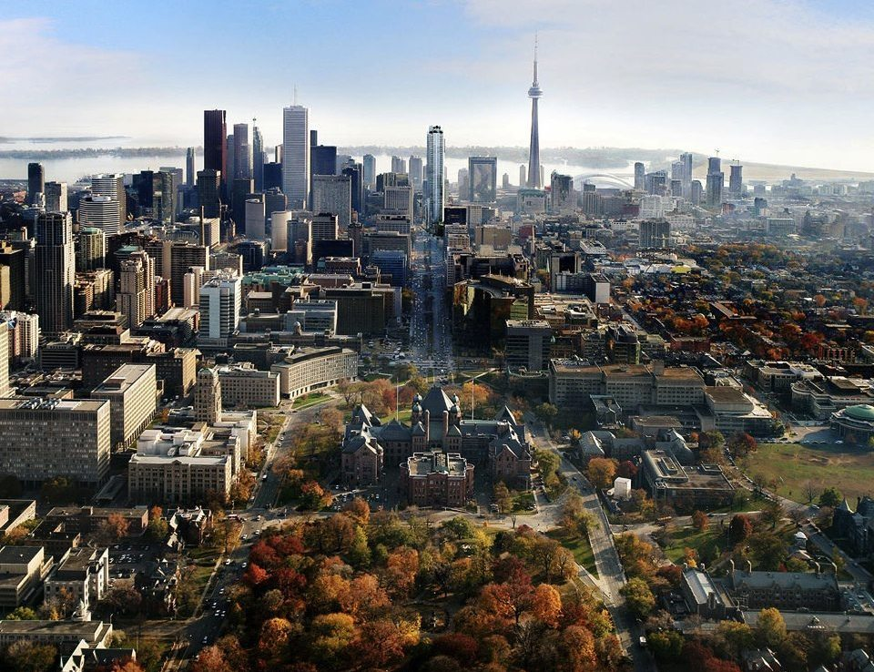 Shangri-La Toronto Condos Aerial View Toronto, Canada