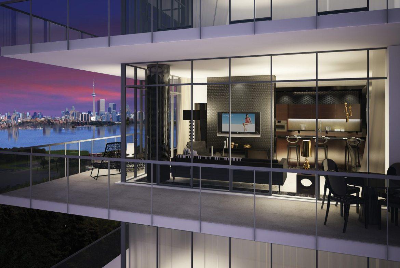 South Beach Condos & Lofts Balcony Toronto, Canada