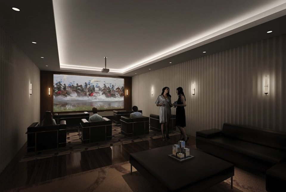 The Mercer Condos Theater Room Toronto, Canada