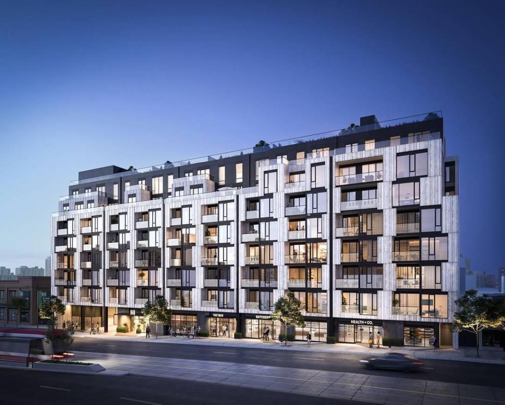 Eight Forty Condos Building View Toronto, Canada