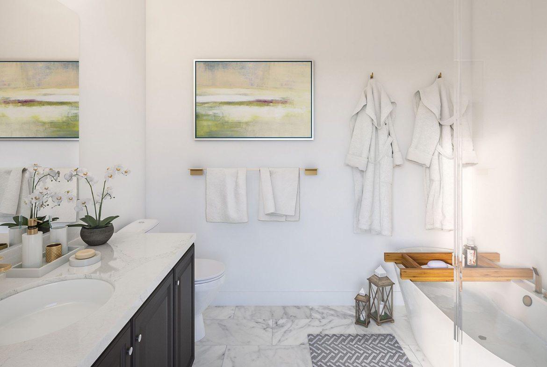 Oak Bay Condos Bathroom View Toronto, Canada