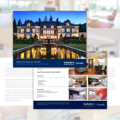Brochures - Sothebys International Realty Canada Extraordinary Real Estate Marketing