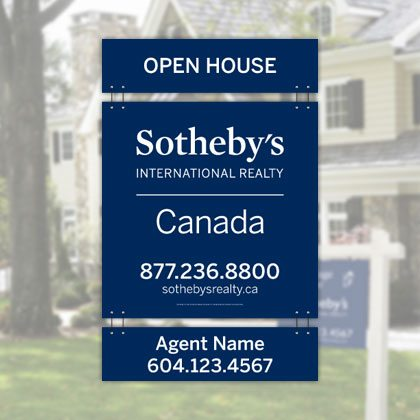 Signage - Sothebys International Realty Canada Extraordinary Real Estate Marketing