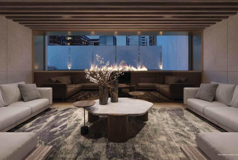 Rendering of 50 Scollard Yorkville Condos lounge