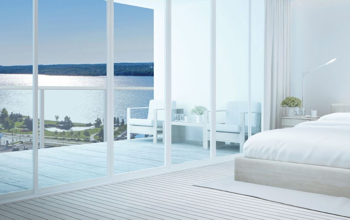 Rendering of a Bedroom in the Residence at Five Points Condos