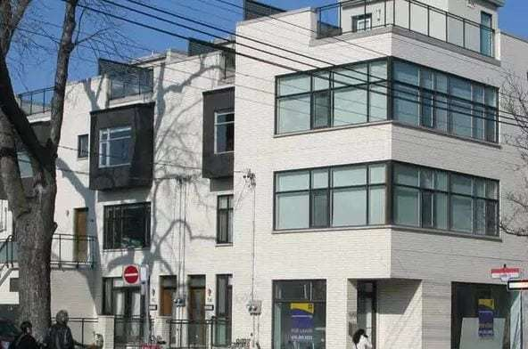 Exterior image of the One Givins Street Condos in Toronto