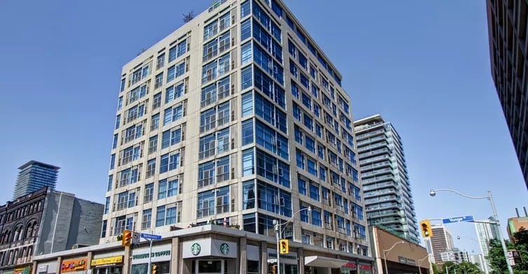 Exterior image of the 8 Wellesley Street East in Toronto