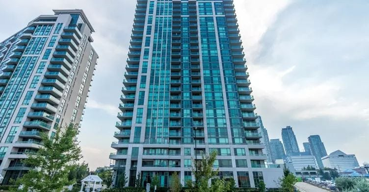 Exterior image of the Altitude Condos in Toronto