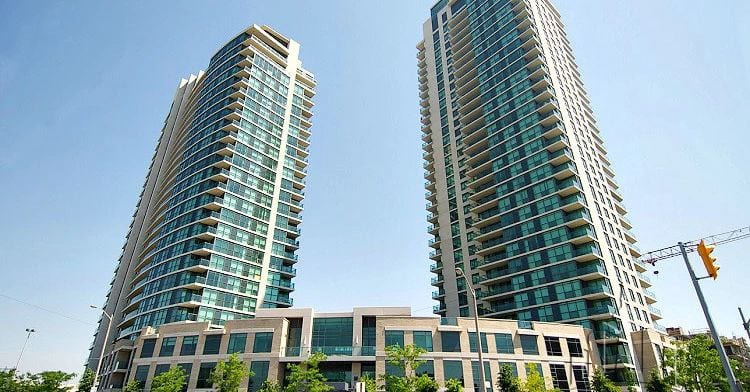 Exterior image of the One Sherway - Tower One in Toronto