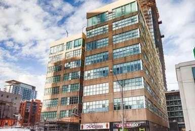 Exterior image of the SoHo Lofts in Toronto
