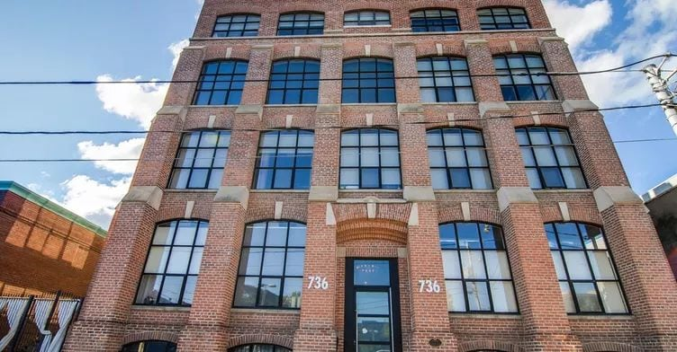 Exterior image of the Tannery Lofts in Toronto