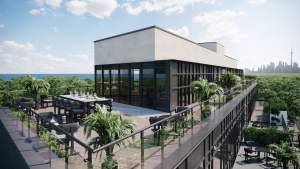 Rendering of Upper Beach Club Condos rooftop terrace