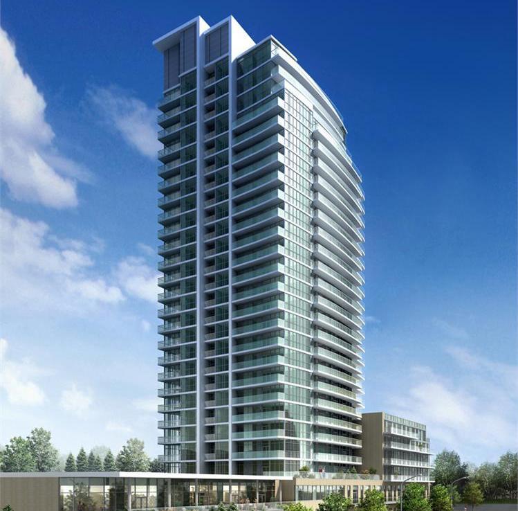 Rendering of Dream Tower at Emerald City Condos exterior