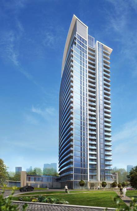 Rendering of Emerald City 2 Condos building exterior