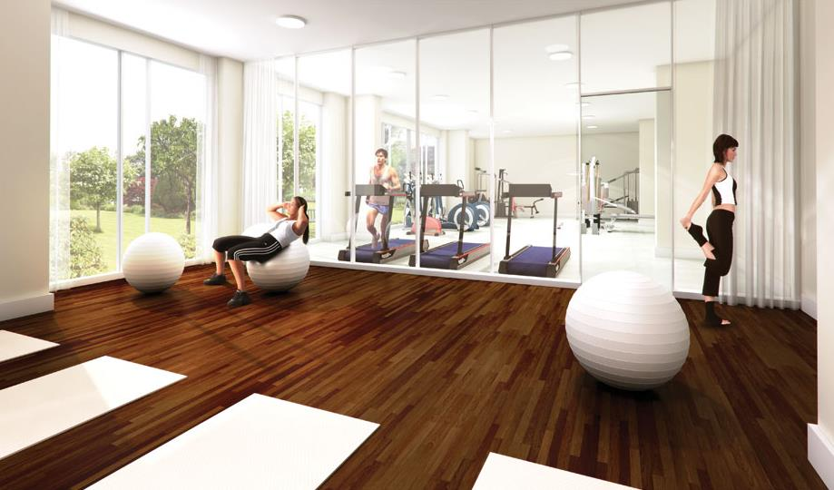Rendering of Emerald City 2 Condos fitness centre