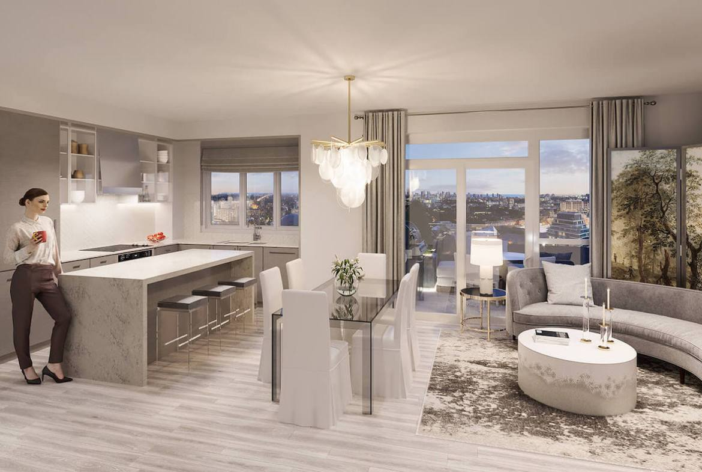 Rendering of Gallery Condos and Lofts Suite Interior