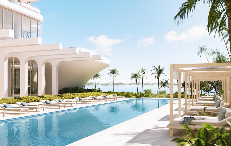 La Clara Residences outdoor pool area