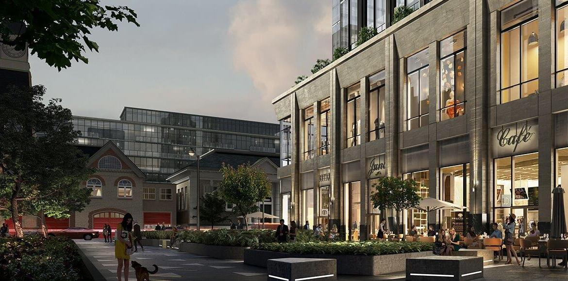 Rendering of CRU 11 Yorkville Condos building exterior bottom only.