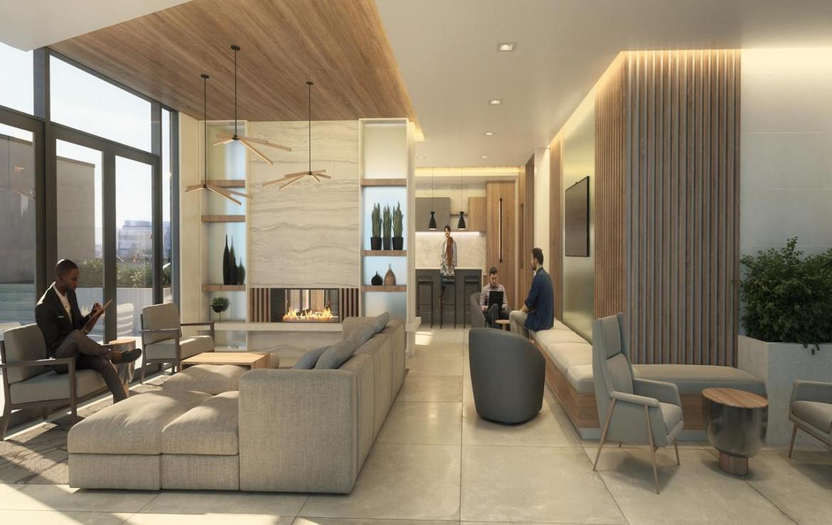 Rendering of River and Fifth Condos Lounge
