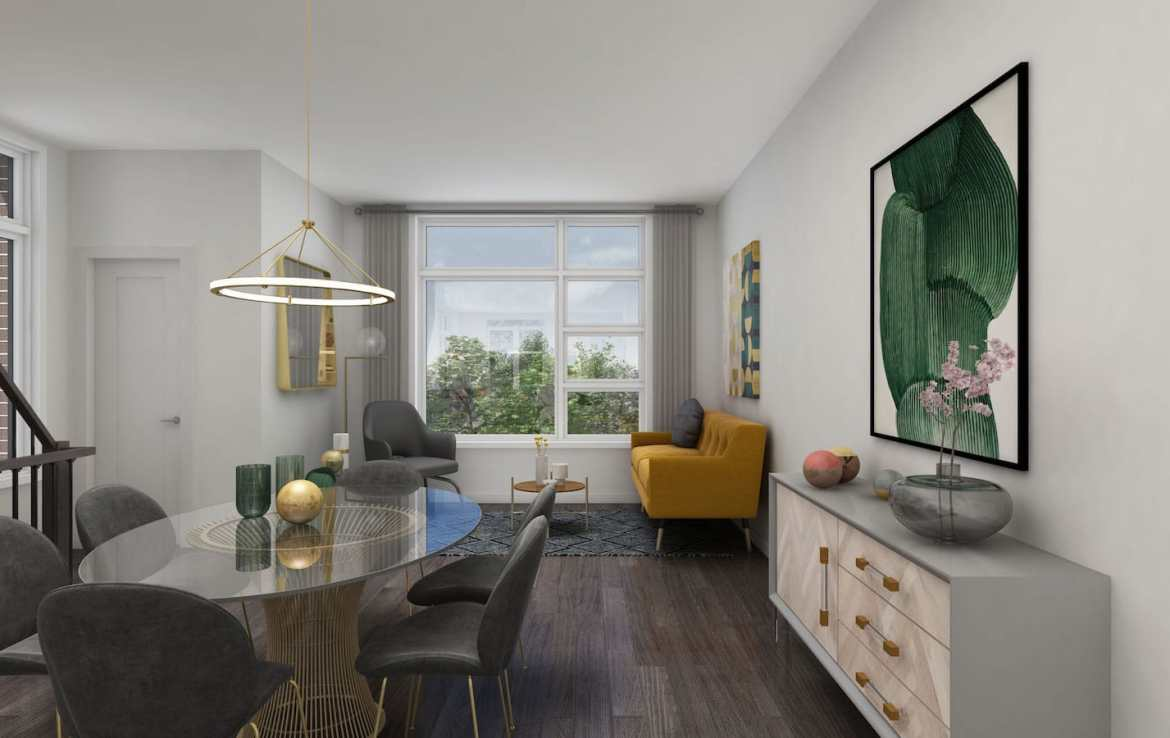NuTowns Interior Rendering of Dining Room Area