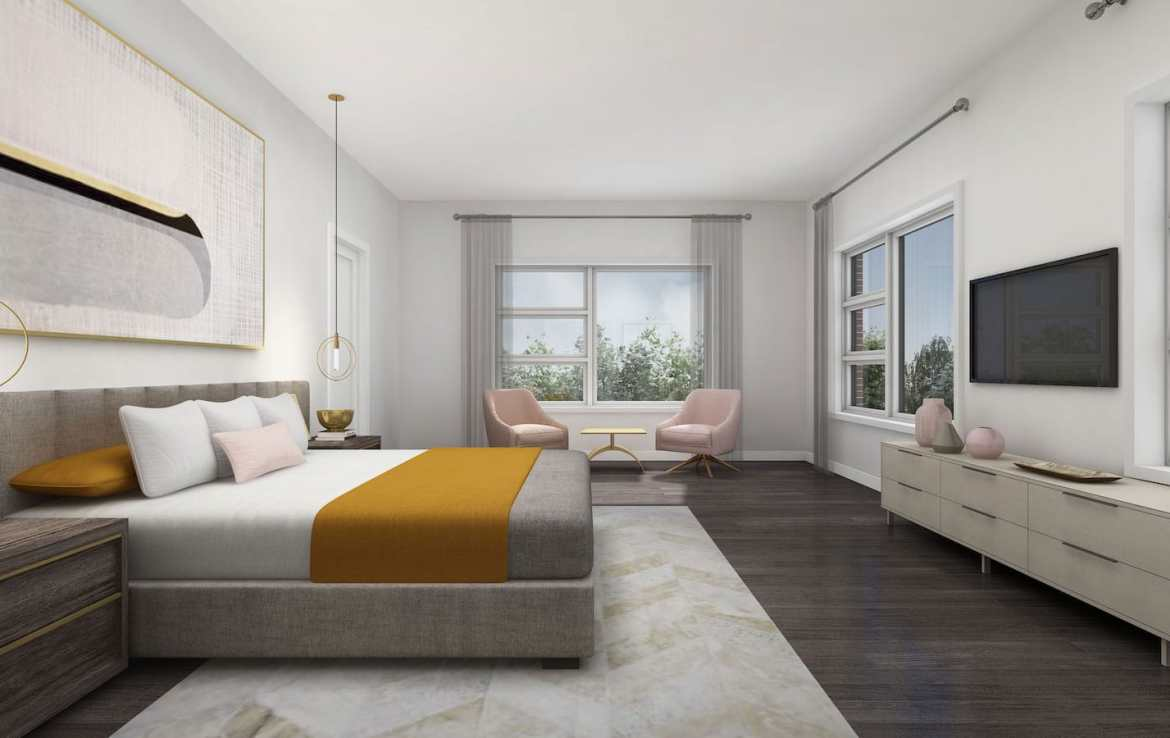 NuTowns Interior Rendering of Bedroom