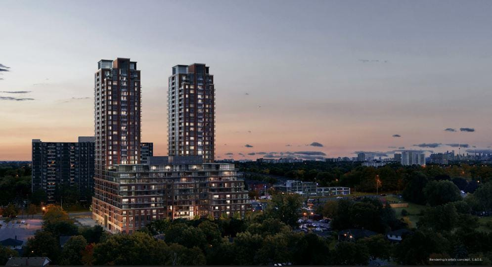 Pinnacle Toronto East Condos Exterior Rendering