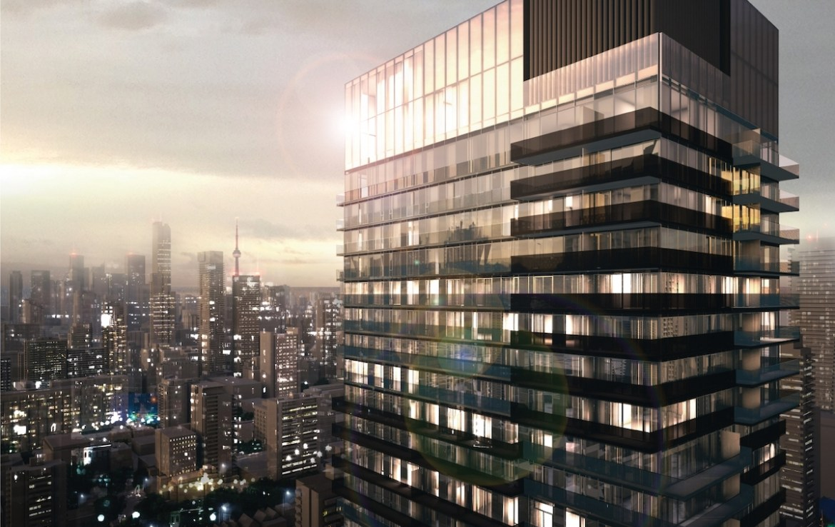 Rendering of 55C Bloor Yorkville Residences Exterior