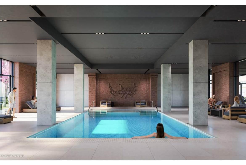 Rendering of Notting Hill Condos indoor pool.