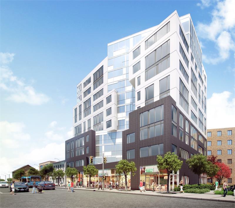University Suites Condos Building Exterior Rendering