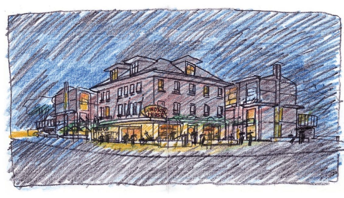 Sketch of The Mimico Condos Side View of Building Exterior